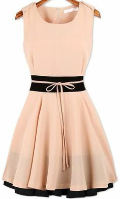 Ruffle Belted Chiffon Dress
