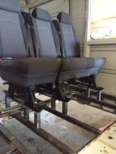 Transit 250 Medium Roof Rear Two Bench Seat Install