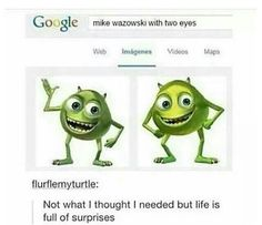 I was googling it myself and the suggestion for mike with hair came up and I clicked it and just weird stuff came up idk.