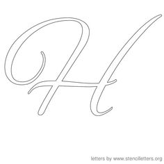 Cursive Letter H Calligraphy | Things I must do | Pinterest ...
