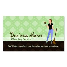 House Cleaning Business Cards Cleaning Business Cards Cleaning