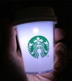 """Starbucks KOREA 2015 Christmas LED White """"TO-GLOW"""" Cup Ornament, Best Gift Item #Starbucks"""