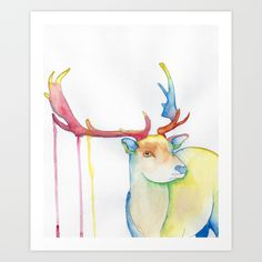 Elk Art Print by Eric Weiand | Society6
