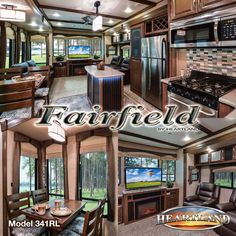 With 7 ft. slide rooms and oversized windows for plenty of fresh air and light, Fairfield owners can relax this Spring and Stay Awhile... #HeartlandRVs https://www.heartlandrvs.com/brands/extended/fairfield/ff-341-rl