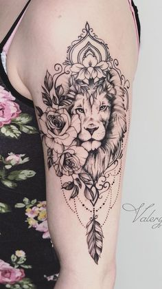 70 female and male lion tattoos TopTattoos # Lion Tattoos # Male # … - tattoo feminina Wolf Tattoos, Lion Head Tattoos, Cute Tattoos, Flower Tattoos, Body Art Tattoos, Tattoo Drawings, Girl Tattoos, Small Tattoos, Tattoos For Women