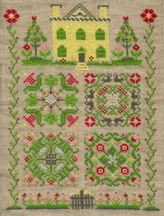 I love samplers...check out this French Summer Garden