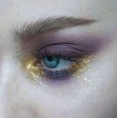Metal matte palette, metal powder in gold & moondust palette by thesaraengel