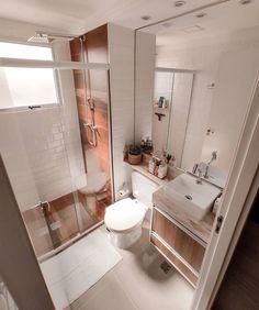 Small Bathroom Interior, Small Bathroom With Shower, Bathroom Design Small, Room Design Bedroom, Home Room Design, Shower Remodel, House Rooms, Bathroom Inspiration, Home Deco