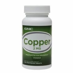 GNC Copper 2 MG 100 Vegetarian Tablets *** Click image for more details.
