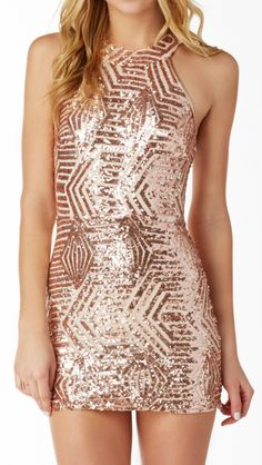 Clock Strikes Twelve Sequin Mini Dress in Gold | Necessary Clothing