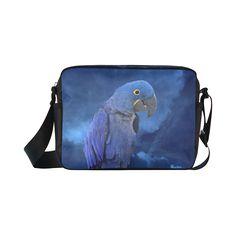 Hyacinth Macaw Classic Cross-body Nylon Bag. FREE Shipping. #artsadd #bags #parrots