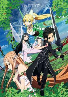 Store en tissu (Wall Scroll) - Sword Art Online (SAO) Vol.6 - Kirito, Asuna, Kirigaya et Yui (Arc 2)