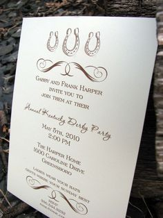 Invitations Derby Party