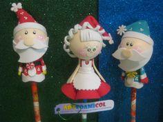 Fofuchas Navidad Papá Y Mamá Noel,Santa Claus,san Nicolas Artfoamicol Na...