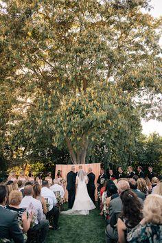 Stunning backyard wedding ceremony www.DelonaPhotography.com