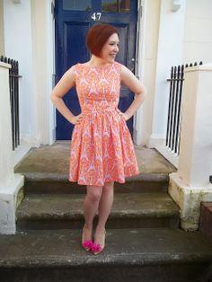 Pasteque dress - Christine Haynes Emery dress in Michael Miller Eiffel Tower fabric