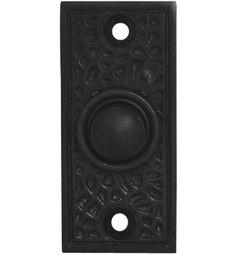 Craftsman Style Door Bell In Solid Brass