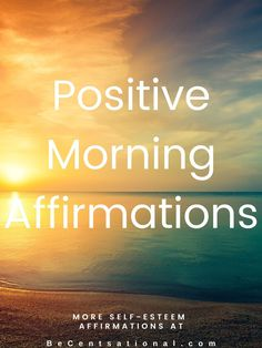 A list of 100 daily positive affirmations to remind yourself everyday you can be the best you can be. - to help against negative self-talk and return to happiness. #positiveaffirmations #positivewords #morningaffirmations Positive Mantras, Positive Affirmations Quotes, Morning Affirmations, Affirmation Quotes, Positive Words, Encouragement Quotes, Self Esteem Affirmations, Affirmations For Women, Negative Self Talk