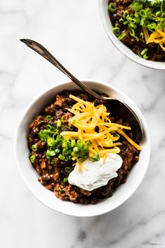This Korean Spiced Chili with its hot and slightly smokey-sweet flavor from the gochugaru adds tremendous depth of flavor! Add a little beer and a touch of chocolate, and you have a seriously amazing bowl of chili!