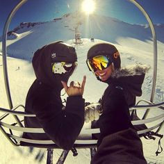 Chairlift chillout #SnowPhotography