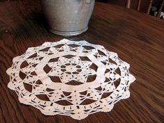 Crochet Doily-Off White with Star in Center-- Beautiful FREE SHIPPING  Ask a Question $8.50 USD. USA