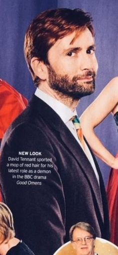 Radio Times Magazine 10th Feb 2018 They don't know what they are talking about... a mop of red hair...  David Tennant looks stunning as always!