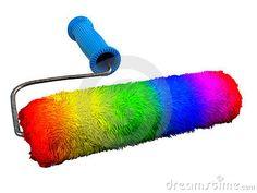 Rainbow paintroller