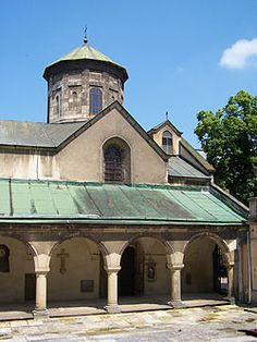 The Armenian Cathedral of the Assumption of Mary ( Armenian : Հայկական տաճար , Ukrainian : Вірменський собор , Polish : Katedra ormiańska ) in Lviv , Ukraine is located in the city's Old Town , north of the market square. Until 1945 it was the cathedral of the Armenian Catholic Archdiocese of Lviv , since 2000 it serves as a cathedral of the Eparchy of Ukraine of the Armenian Apostolic Church . History 1363-1945 A small Armenian church was built in the years 1363–1370, founded by an Arme...