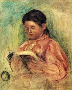 Woman Reading - Pierre Auguste Renoir - The Athenaeum Pierre Auguste Renoir, August Renoir, Renoir Paintings, Woman Reading, Reading Art, Portraits, Light Painting, French Artists, Beautiful Paintings