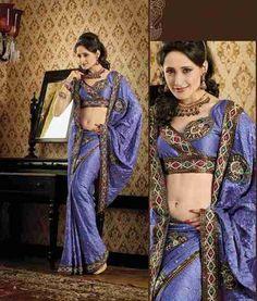 Chandika Mauve Faux Crepe Luxury Party Wear Sari saree