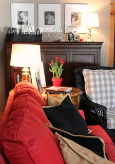 vignette (Decorating with Red in Our House » Talk of the House)