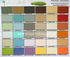CeCe Caldwell Chalk Paint Colors. Love Destin Gulf for that aged aqua patina.