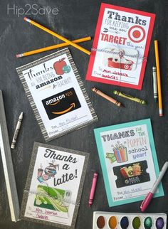 Free printable gift card holders are a cute way to add some fun to popular store gift cards. | Hiip2Save