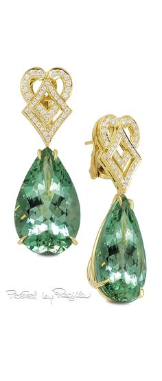 Regilla ⚜ Green Beryl Earrings