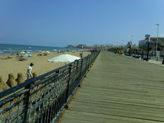 The boardwalk at La Mata, Spain    Been to La Mata three times, love the laid back feel of the place - not such a great hike back to the appartment through the wilderness after a long day at the beach!