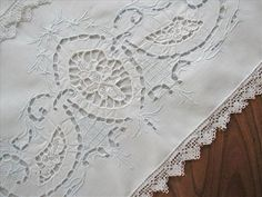 Vintage White Lace Pillowcase
