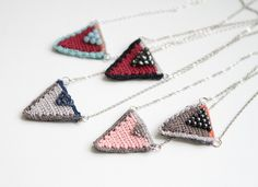 Triangles necklaces | by pompom design