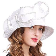 bda79bde6a073 VECRY Womens Tea Party Church Baptism Kentucky Derby Dressy Hat Review