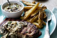 Ribeye Steak with Portabellini Mushroom Sauce - Make delicious beef recipes easy, for any occasion South African Dishes, Beef Recipes, Cooking Recipes, Mushroom Sauce, Food Styling, Steak, Stuffed Mushrooms, Easy Meals, Pork