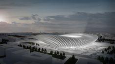 natonal_football_stadium by Zsolt Nyiro Studio 1 Stadium Architecture, Parametric Architecture, Parametric Design, Organic Architecture, Concept Architecture, Futuristic Architecture, Beautiful Architecture, Architecture Design, Bamboo Architecture