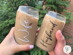 Personalised Cups, Engagement Party Gifts, Glass Coffee Cups, Aesthetic Coffee, Perfect Glass, Coffee Design, Cricut Creations, Cute Mugs, Crafty Projects