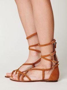 Gladiator strappy leather sandal...
