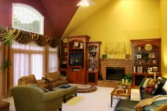 Tips Red Yellow Living Room Interior Wall Colors With Brown on Interior Design Best Collection Wall Colors That Go With Red Room Wall Colors, Colourful Living Room, Living Room Red, Living Room Color Schemes, Paint Colors For Living Room, Living Room Designs, Living Area, Living Spaces, Family Room Decorating