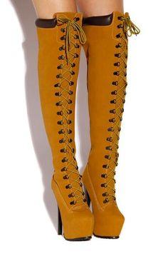 knee high timberland boots heels