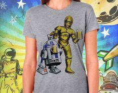Star Wars R2 / 3PO Women's Gray T-Shirt