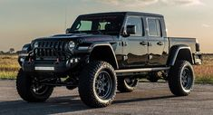 Texas-based tuner Hennessey Performance have built the first Jeep Gladiator, the mighty Maximus. This beastly vehicle started off as a 2020 Jeep Gladiator truck but was given the Hennessey treatment, it is now powered by a supercharged 6 Jeep Gladiator, Gladiator Maximus, Jeep Pickup, Jeep 4x4, Jeep Truck, Pickup Trucks, Peugeot 2008, Dodge Charger, Off Road Suspension