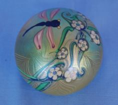 ORIENT & FLUME GLASS PAPERWEIGHT I141S DRAGONFLY