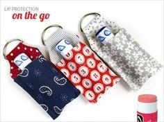 Free pattern: Lip balm key ring case