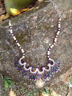 .: Ref. 150 Collar Mostacillas, canutillos y perlas