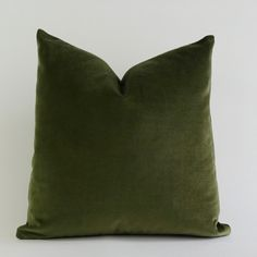 Olive Green Cotton Velvet Pillow Cover Decorative Accent Throw Pillows... (€50) ❤ liked on Polyvore featuring home, home decor, throw pillows, velvet accent pillows, olive throw pillows, zippered throw pillows, velvet throw pillows and cotton throw pillows